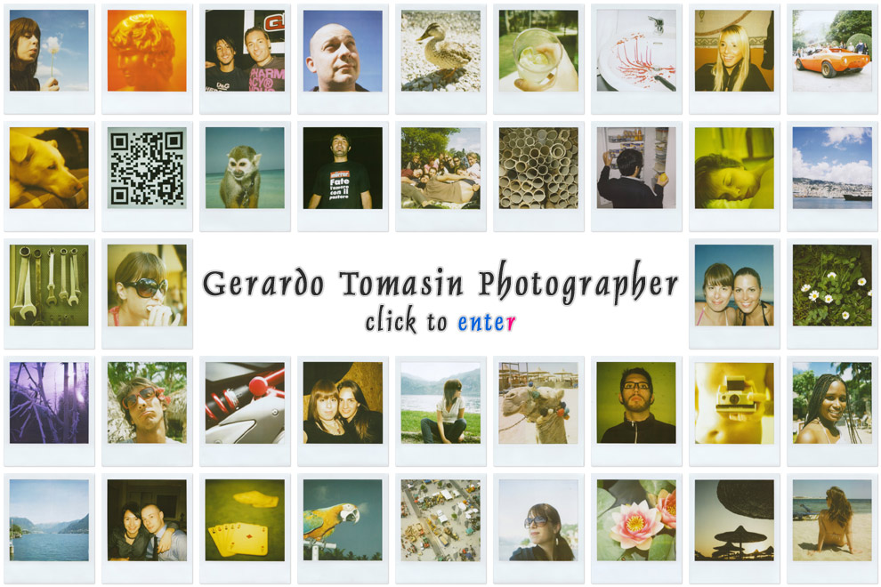 Gerardo Tomasin Photographer > Click to enter